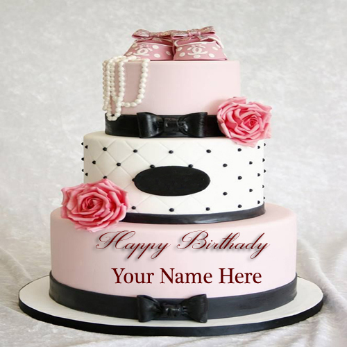 Write Your Name Beautiful Wedding For Girls Cakes Pic