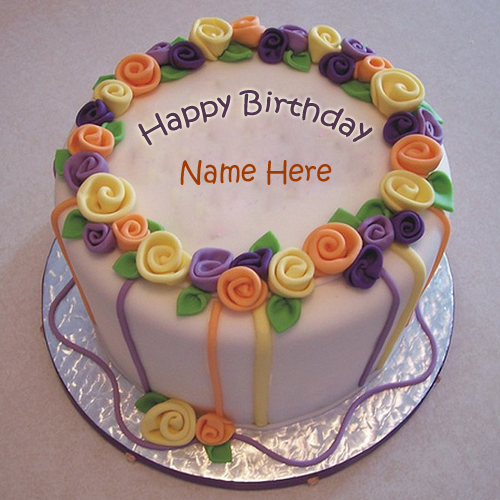 WRITE NAME ON Hand Made Birthday Wishes Cake With Your Name PICS