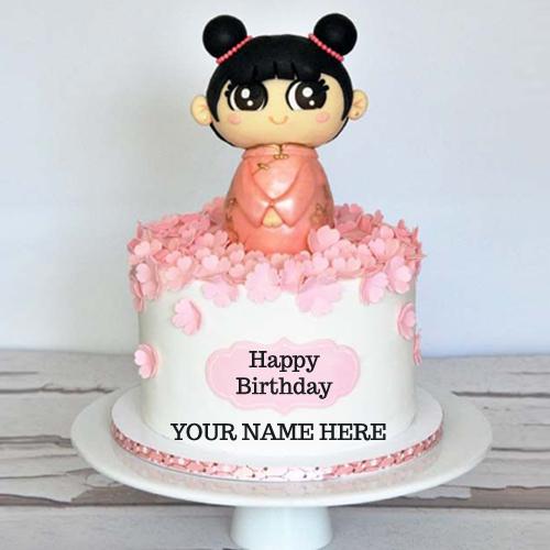 Write Name On Cute Kids Birthday Cake With Name Pic