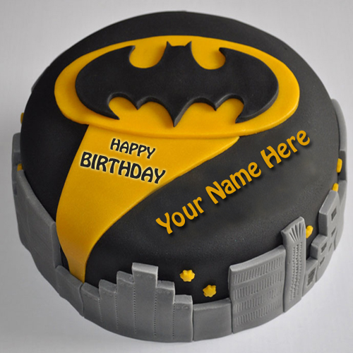Cake Images With Name Shubham : Write Name on Batman Birthday Cake For Brother