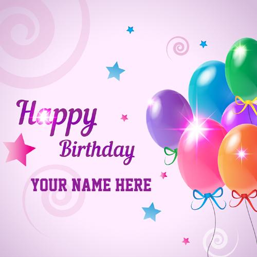 Happy Birthday Celebration Greeting With Custom Name