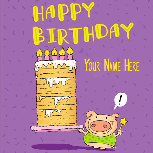 Free birthday cards with name editing
