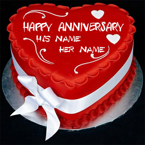 Write Name On Anniversary Cake Images : Write Name on Wedding Anniversary Cake Online