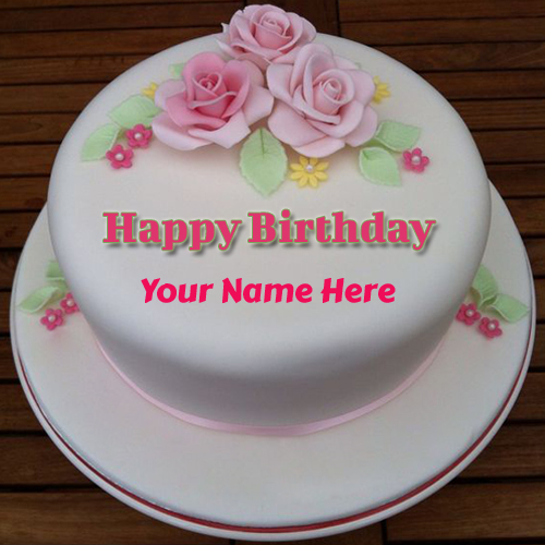 Cute And Sweet Birthday Cake With Your Name Write Name On: Write Your Name On Brithday Cakes Online Pictures Editing