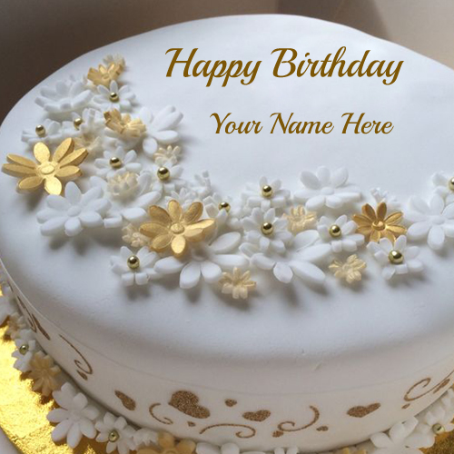 Cake Images With Name Prasad : Golden Birthday Celebration Fruit Cake With Your Name