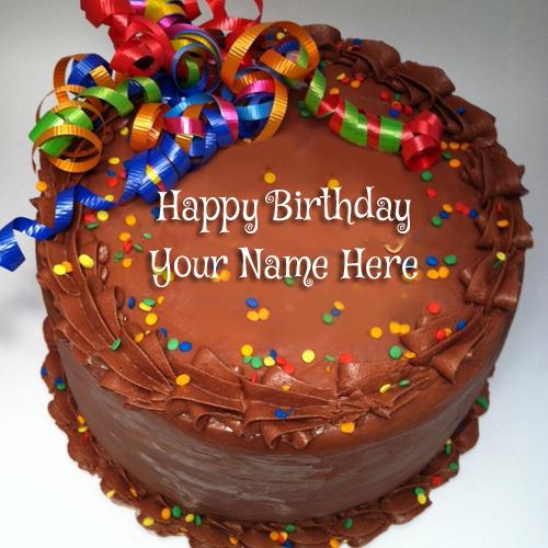 WRITE NAME ON Write Your Name On Chocolate Icecream Birthday Cake PICS