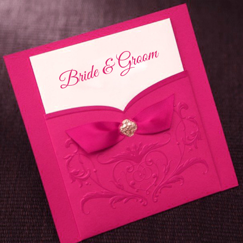 Write Bride And Groom Name On Marriage Invitation Card