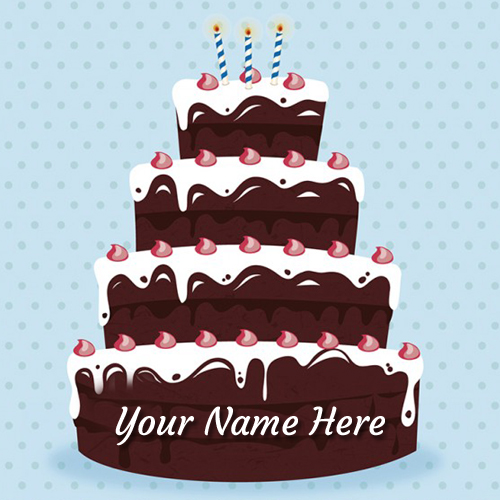 write your name on beautiful happy birthday cake gif