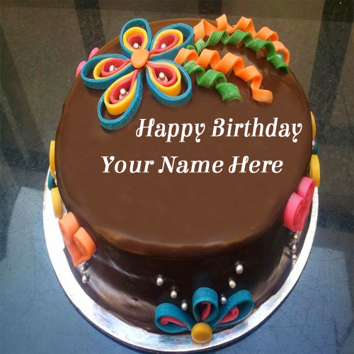 WRITE NAME ON Write Your Name On Chocolate Birthday Cake For Girls ...