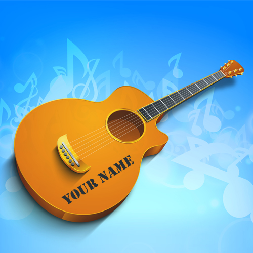 Guitar Whatsapp Wallpaper: Write Your Name On Cool Images